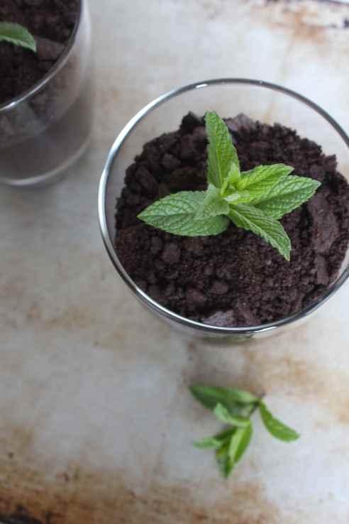 Mint Chocolate Pudding Cups | alwayseatdessert.com
